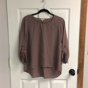NEW WITH TAGS Lily White Mauve Blouse